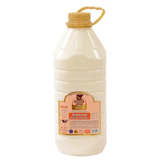 Haydar Efendi Gold Süt Çiğ Süt - 3 Litre